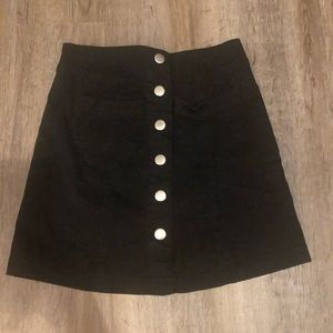 Charolette Russe Button-down Mini skirt